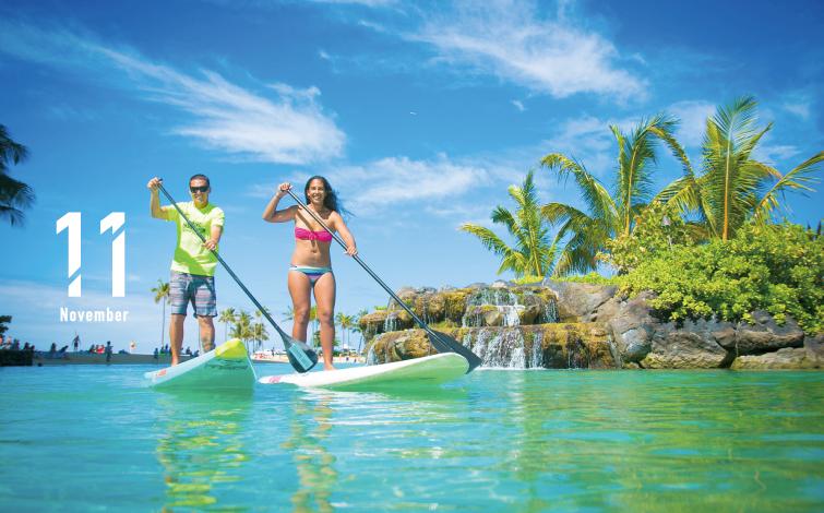 """初めてでも安心!ハワイで一番HOTなスポーツ<br>""""スタンドアップパドル""""にチャレンジ"""