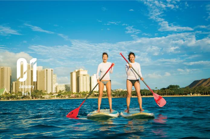 [特集]ハワイLOVEな女子2人、初めてのスタンドアップパドル!