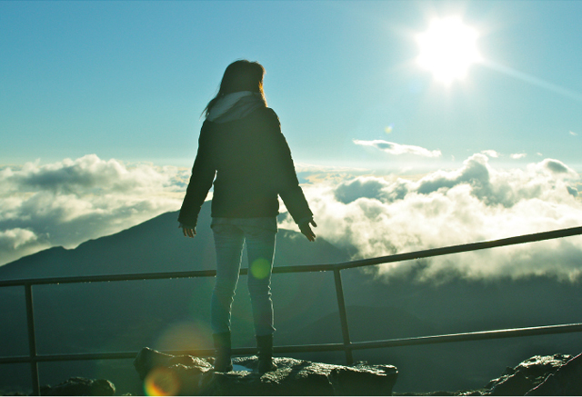 マウイ島ハレアカラ山頂でパワーをチャージ
