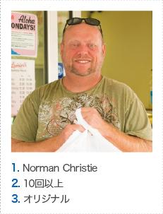 1. Norman Christie 2. 10回以上 3. オリジナル