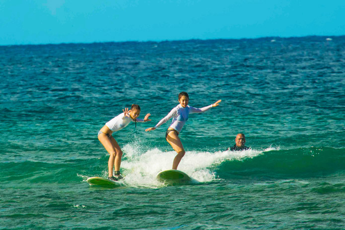 Roy's surffin lesson