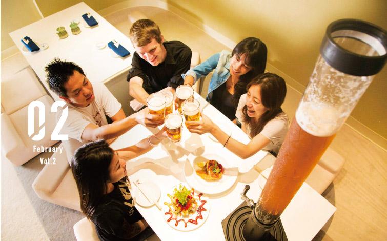 """驚愕の飲みごたえ!<br /> ビール好きが集まったら「KAIWA」の""""ビールタワー""""!"""