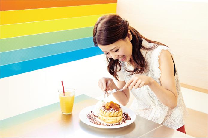 パンケーキ⑦ レインボーパンケーキ