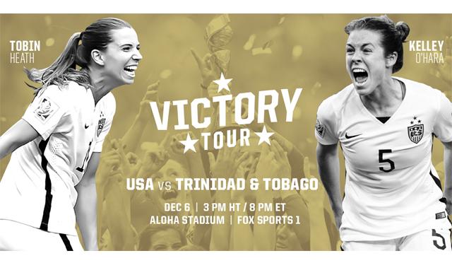アメリカ代表女子サッカーチームの試合がハワイで初開催。スポーツシーズン到来!